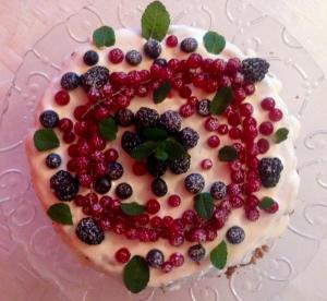 Cheesecake con frutti di bosco