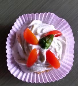 Chhesecake pesto e pomodorini