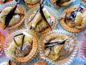 Tartellette mousse di melanzane e scamorza