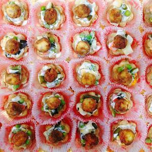 Tartellette insalata russa e polpettine