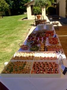Buffet degli antipasti presso Villa Marta a Lucca per la comunione di Damiano
