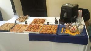 Allestimento buffet lunch presso la Scuola Superiore Sant'Anna di Pisa