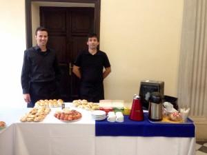 Matteo e Mirko - Allestimento buffet lunch presso la Scuola Superiore Sant'Anna di Pisa