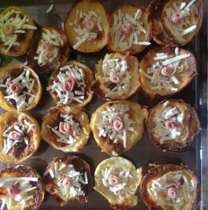 Gateau di patate monoporzione  con scaglie di ricotta salata