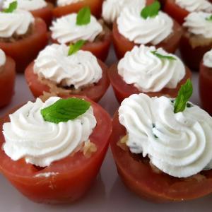 Pomodori ripieni con melanzana e ricotta