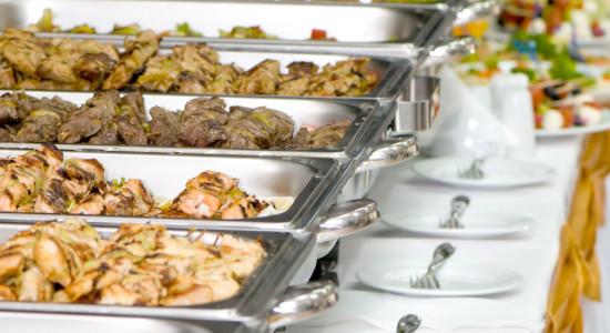 Allestimento caratteristico servizio business a buffet